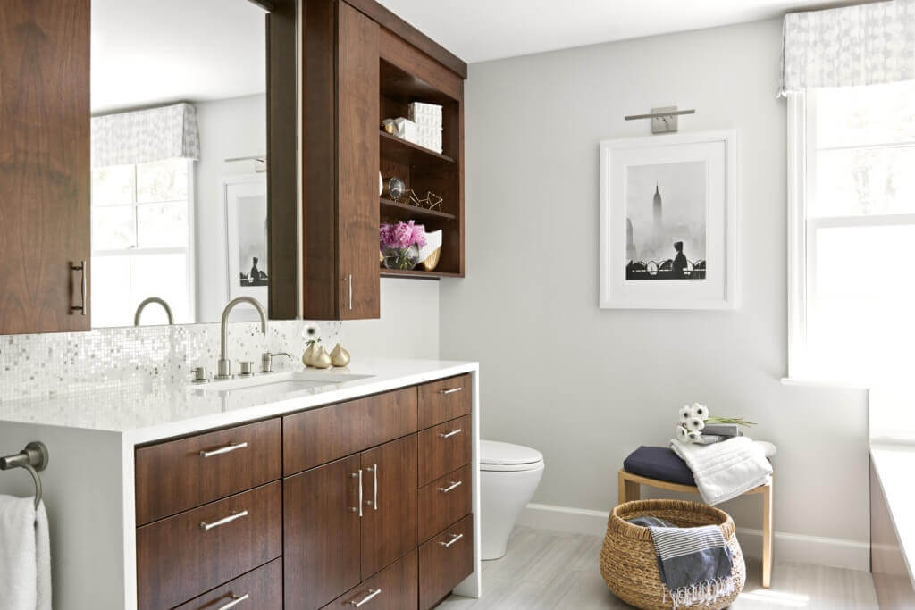 Don't overlook the countertops in your bathroom.